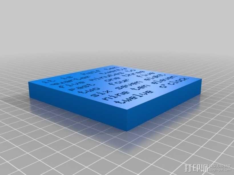 字母时钟 3D模型  图2