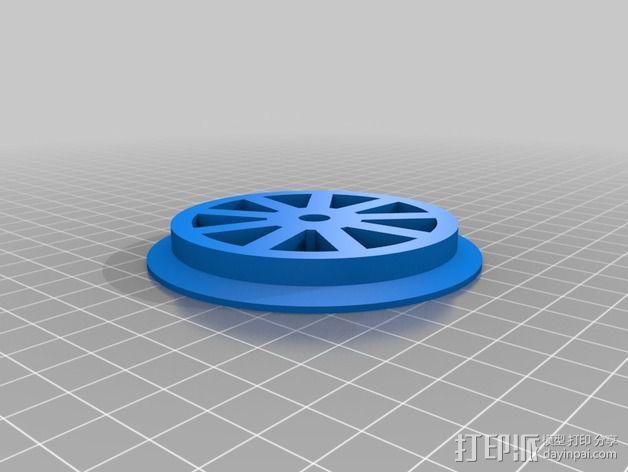 同步皮带轮  3D模型  图2