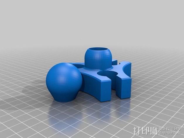 台灯固定夹 3D模型  图2