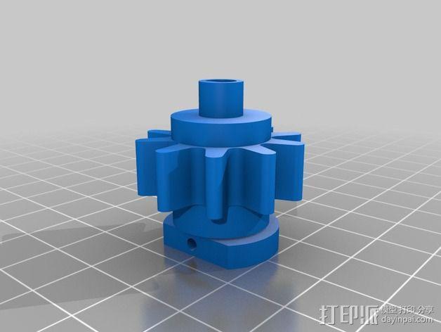 Nemma 17步进电机 双接头  3D模型  图5