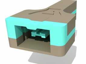 Wii Nunchuck配适器接口 3D模型
