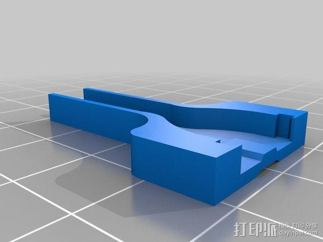 Wii Nunchuck配适器接口 3D模型  图2