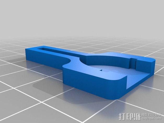 Wii Nunchuck配适器接口 3D模型  图3