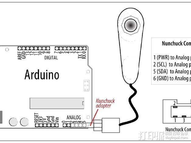 Wii Nunchuck配适器接口 3D模型  图11