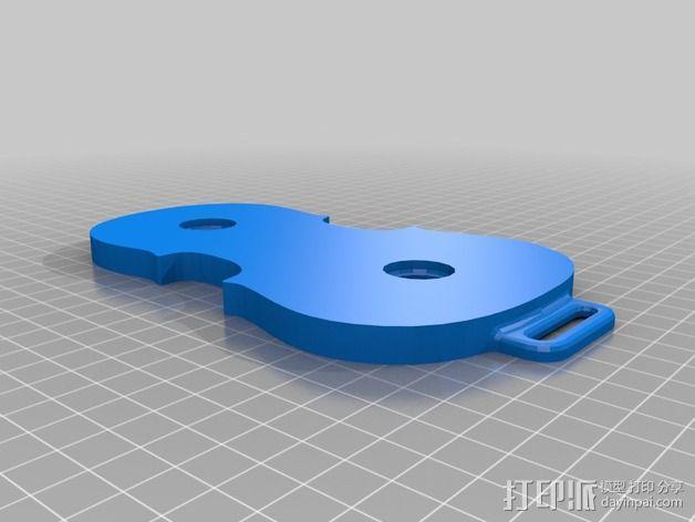 大提琴形的皮带扣 3D模型  图2