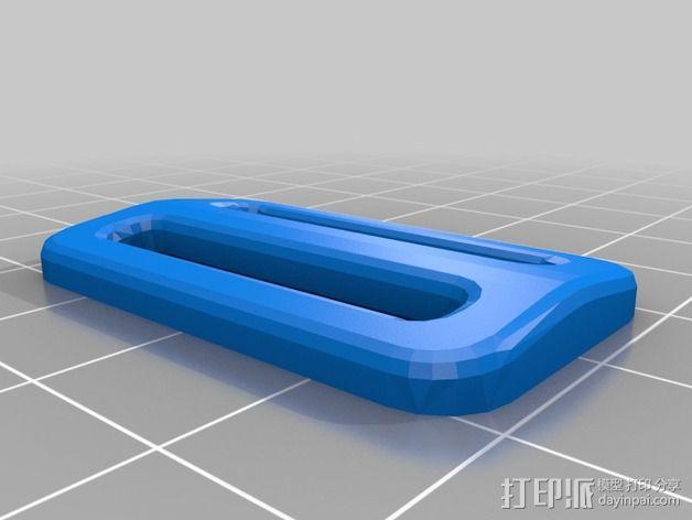 大提琴形的皮带扣 3D模型  图5