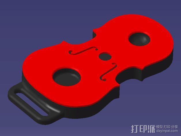 大提琴形的皮带扣 3D模型  图8