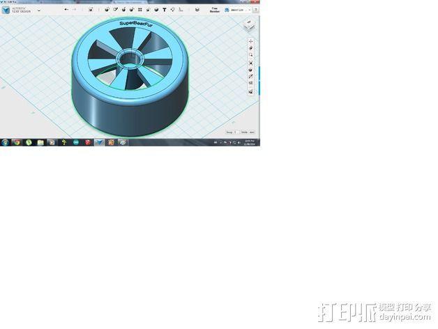 遥控赛车 车轮 3D模型  图2