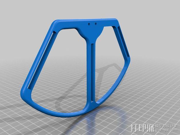 四轴飞行器 螺旋桨防护栏 3D模型  图2