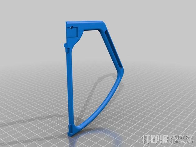 四轴飞行器 螺旋桨防护栏 3D模型  图1