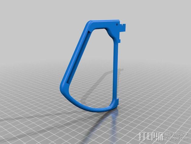 四轴飞行器 螺旋桨防护栏 3D模型  图3
