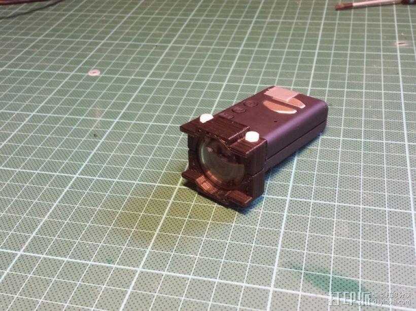 Mobius相机镜头保护架 3D模型  图1