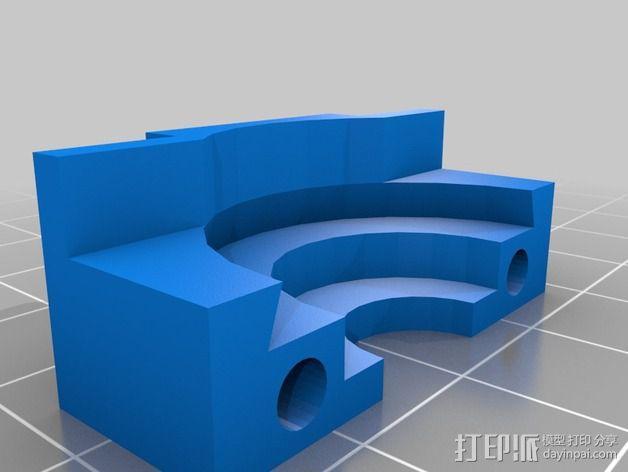 Mobius相机镜头保护架 3D模型  图2