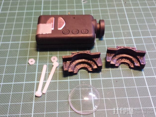 Mobius相机镜头保护架 3D模型  图3