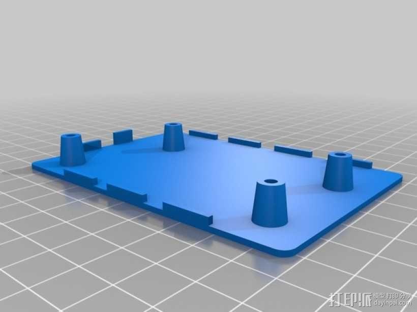 USB集线器 外壳 3D模型  图3