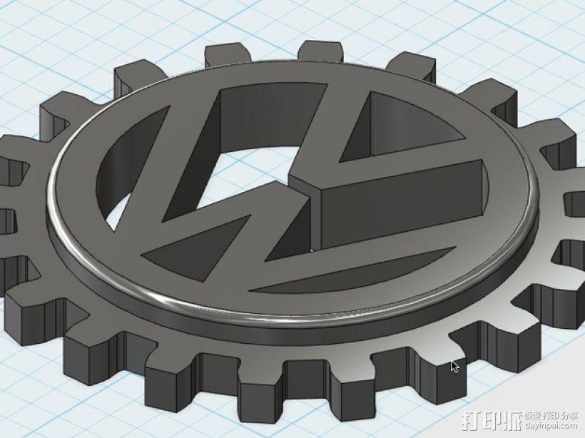 大众汽车 标志 3D模型  图1