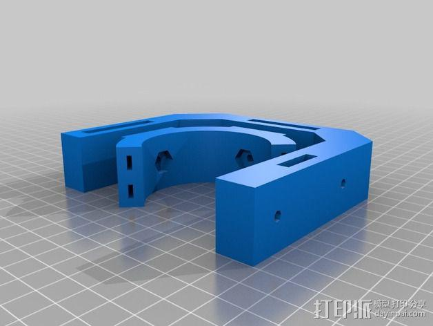 激光切割的管架 3D模型  图3