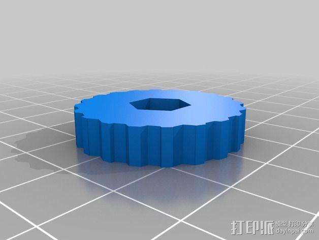 激光切割的管架 3D模型  图2