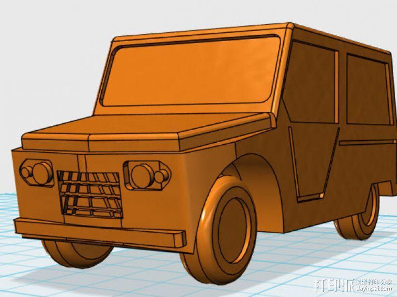 雪铁龙吉普车 3D模型  图1