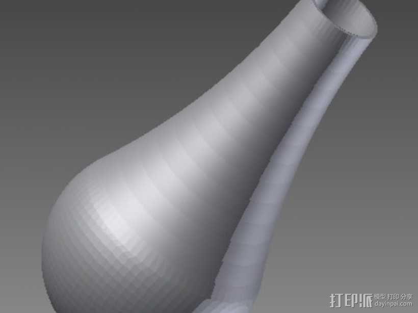 小号弱音器 3D模型  图1