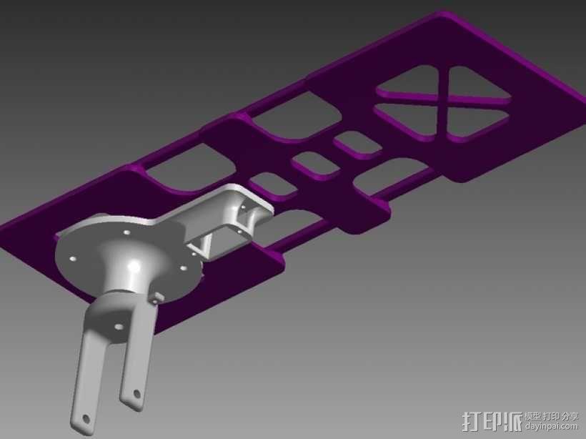 """""""空中猎手""""遥控飞机 起落架 3D模型  图8"""