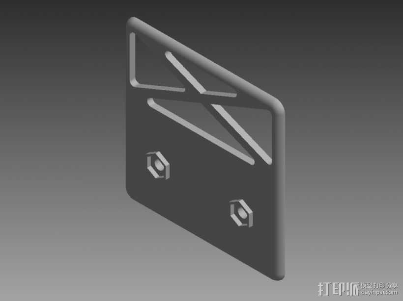 """""""空中猎手""""遥控飞机 起落架 3D模型  图16"""