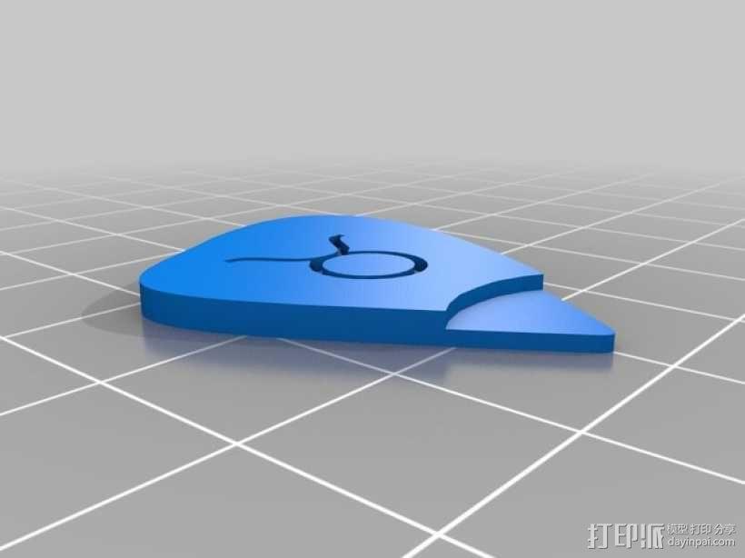 金牛座 吉他拨片 3D模型  图1