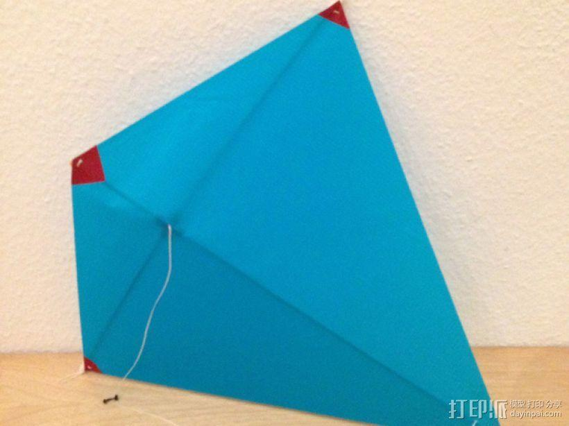 菱形风筝 中心连接器 3D模型  图1