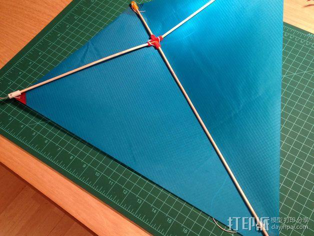 菱形风筝 中心连接器 3D模型  图3