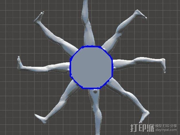 人腿之轮 3D模型  图1