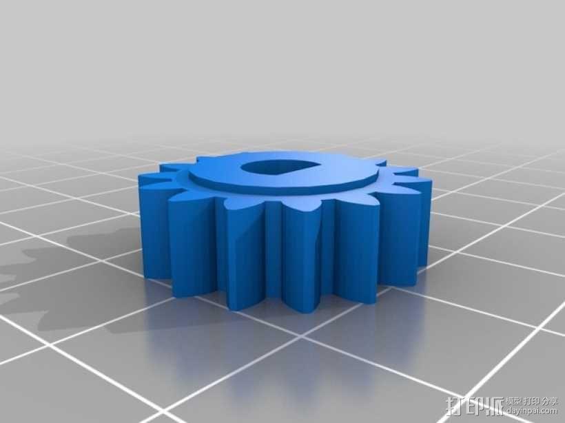 电位计 齿轮 3D模型  图1