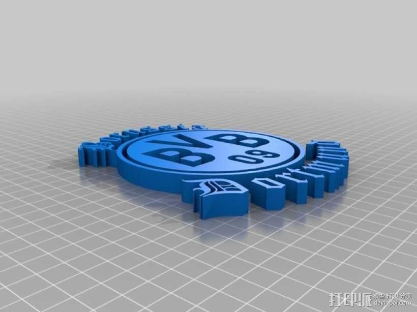 多特蒙德足球俱乐部 标志 3D模型  图2