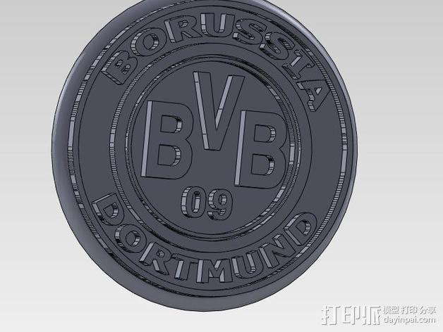 多特蒙德足球俱乐部 标志V2 3D模型  图2