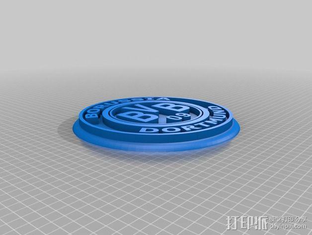 多特蒙德足球俱乐部 标志V2 3D模型  图3