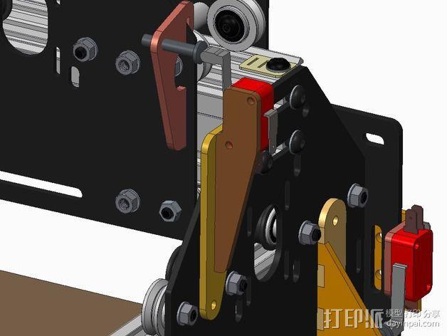 Shapeoko 2限位开关支架 3D模型  图3