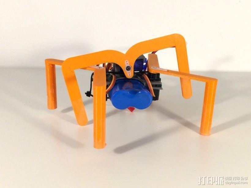 简易六足机器人 3D模型  图1