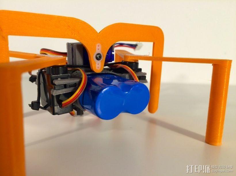 简易六足机器人 3D模型  图2