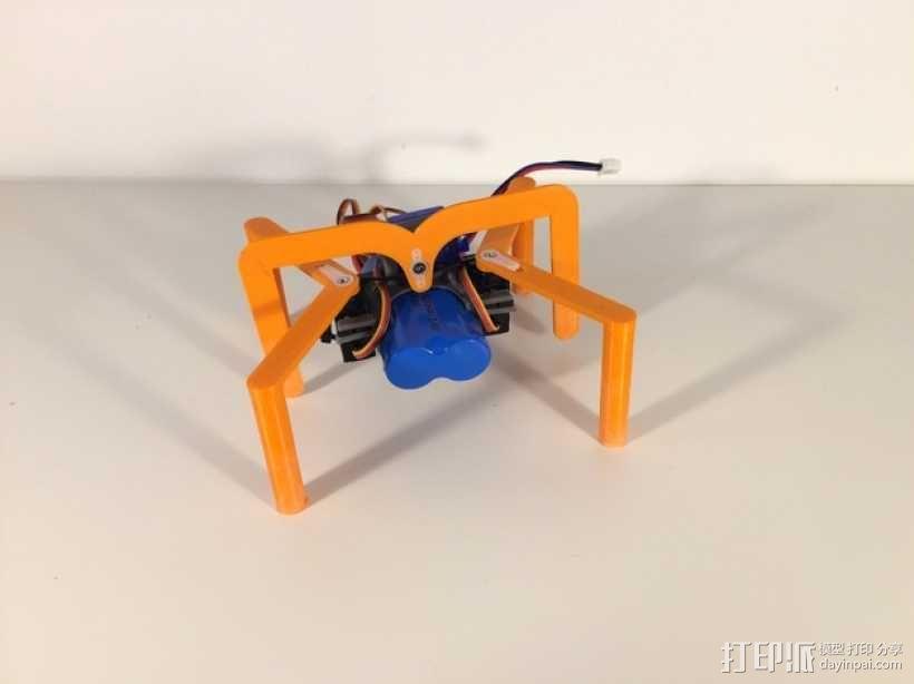 简易六足机器人 3D模型  图3