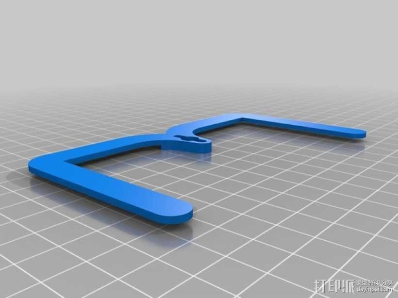 简易六足机器人 3D模型  图4
