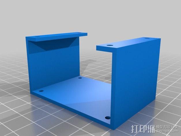 步进电机支架 3D模型  图2