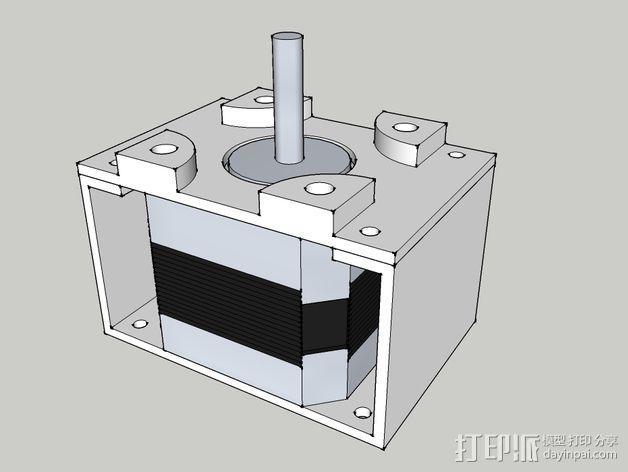 步进电机支架 3D模型  图1