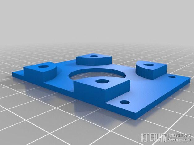 步进电机支架 3D模型  图3