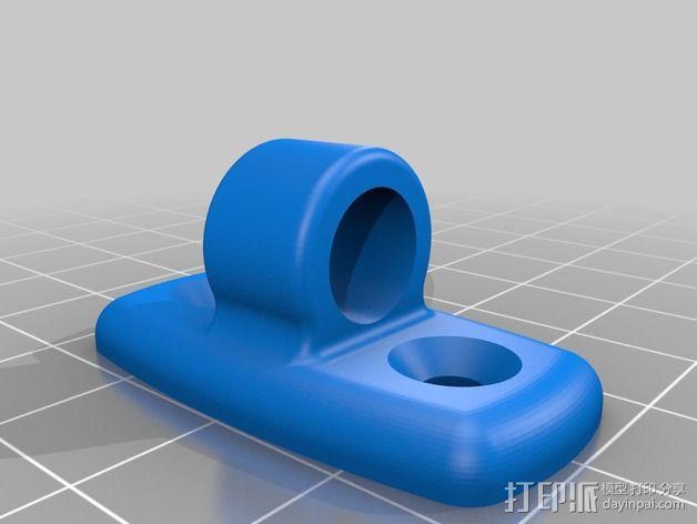 皮划艇 线带固定夹 3D模型  图2