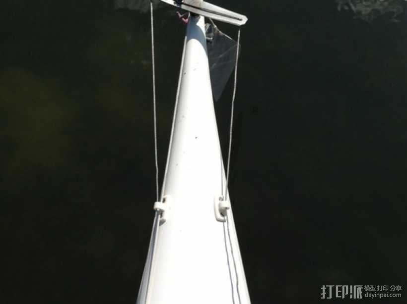 皮划艇 线带固定夹 3D模型  图1
