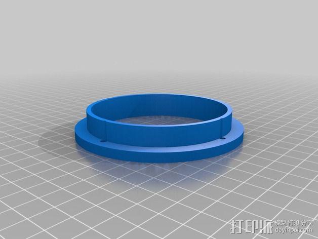 传声器炭精盒 固定器 3D模型  图2