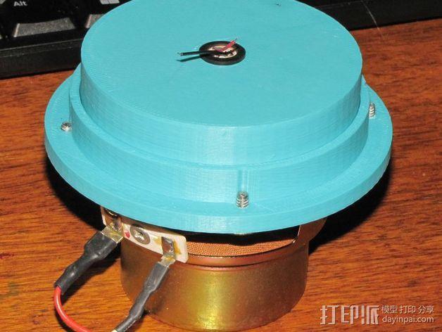 传声器炭精盒 固定器 3D模型  图1