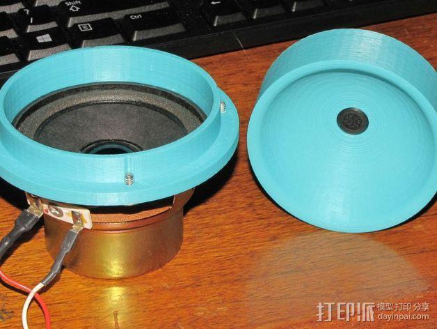 传声器炭精盒 固定器 3D模型  图5