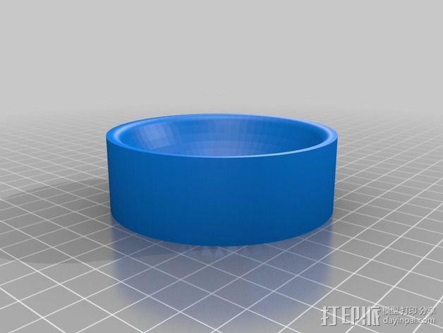 传声器炭精盒 固定器 3D模型  图3