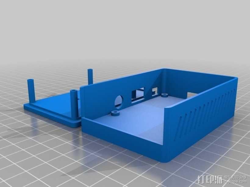 树莓派外壳 3D模型  图1