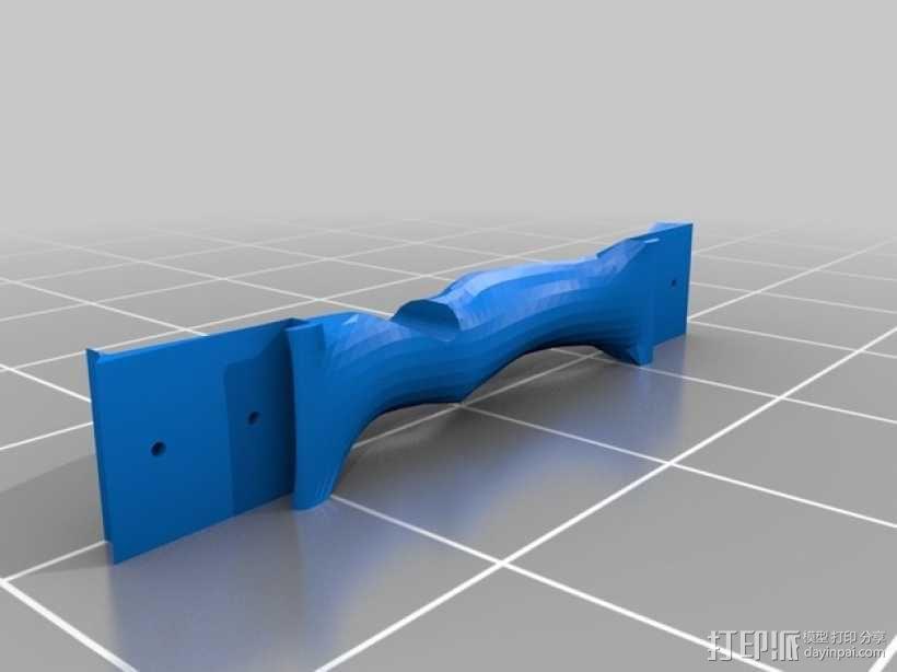 弓箭 弓柄 3D模型  图2